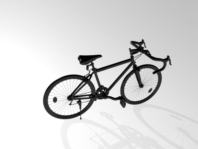 Road Racing Bike 3d rendering