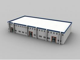Small Factory Building 3d preview