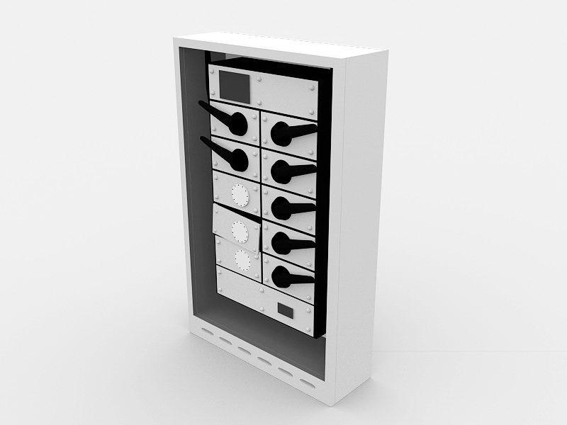 Circuit Breaker 3d rendering