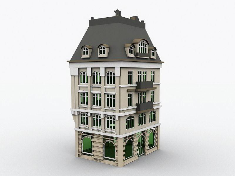 Bankhaus Bank House 3d rendering