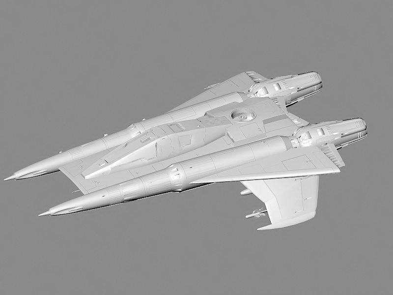 Starfighter Concept 3d rendering
