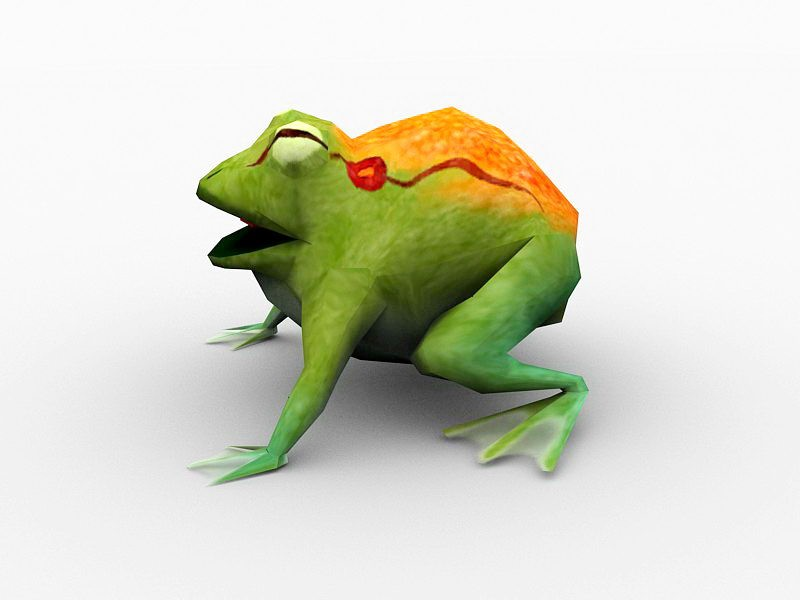 Frog Monster 3d rendering