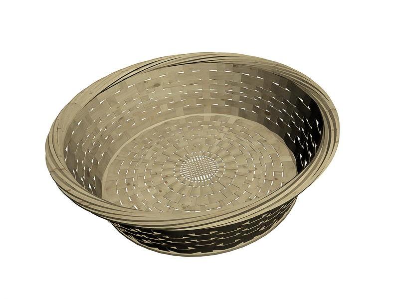 Bamboo Basket 3d rendering