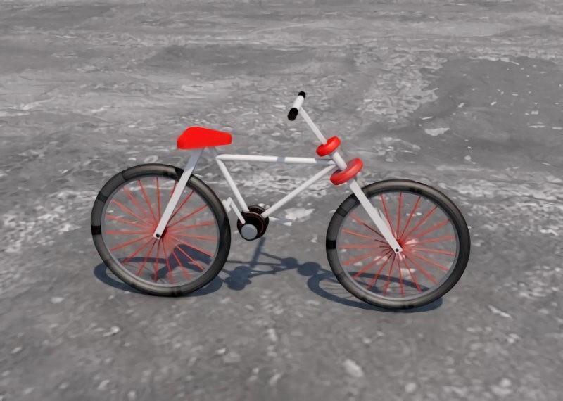 Simple Bike 3d rendering