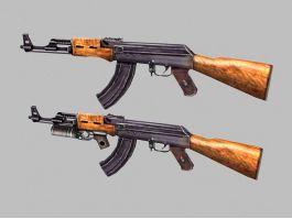 Soviet AK-47 3d preview