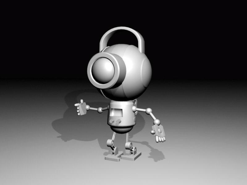Cute Cyborg 3d rendering