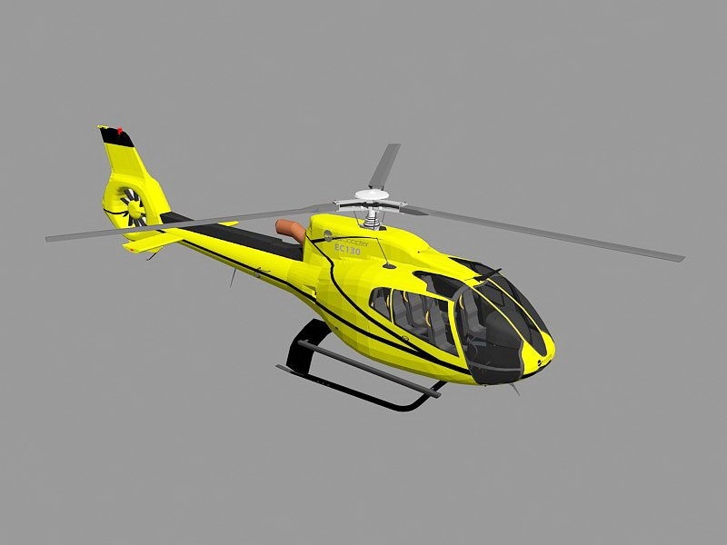 Eurocopter EC130 Helicopter 3d rendering