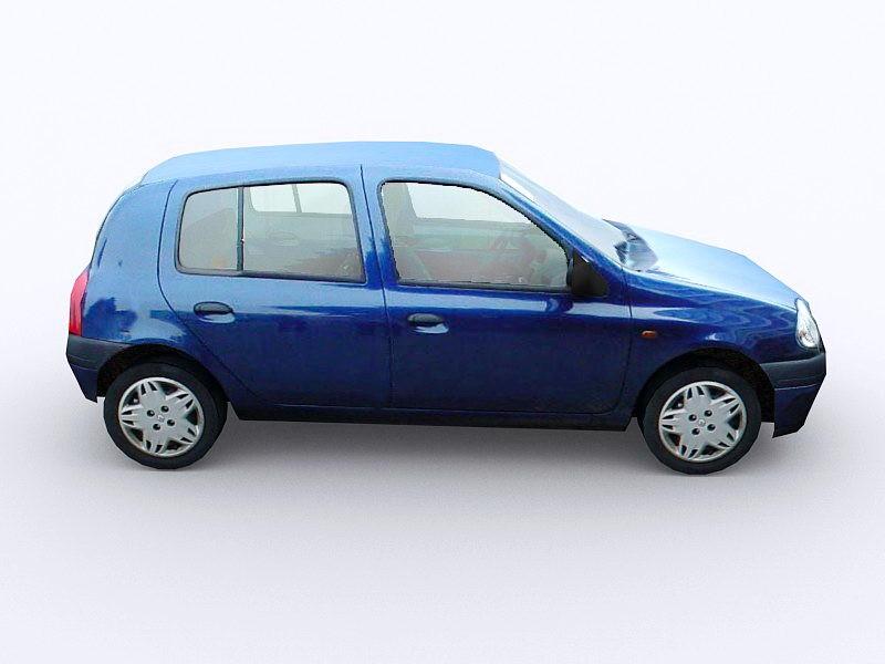 Renault Clio Car 3d rendering