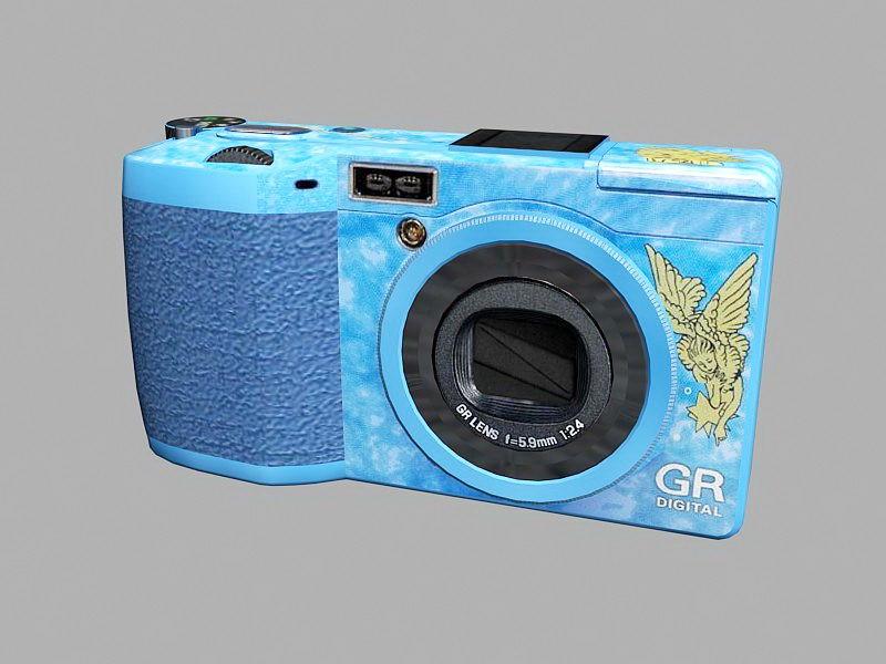 Ricoh GR Digital Camera 3d rendering