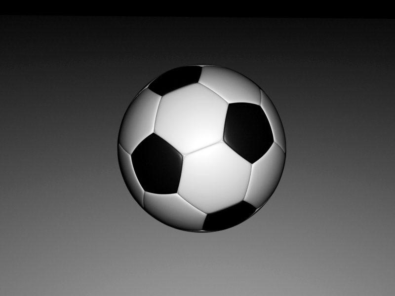 Soccer Ball 3d rendering