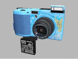 Ricoh GR Digital Camera 3d preview