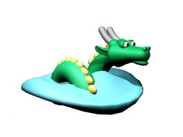 Water Dragon Cartoon 3d preview