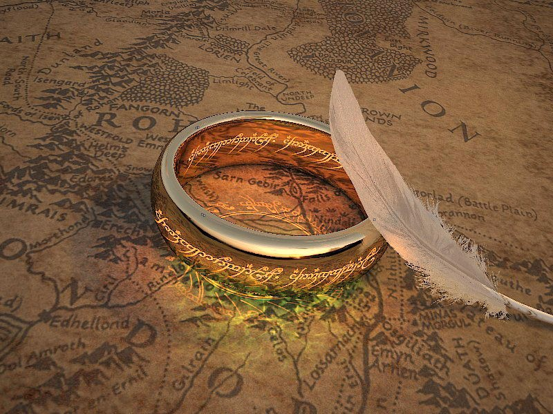 The One Ring 3d rendering