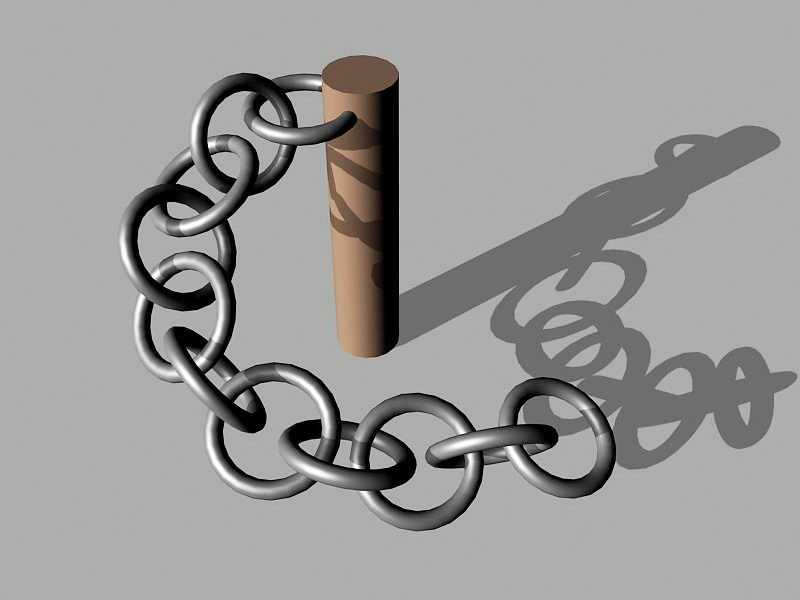 Metal Chain 3d rendering