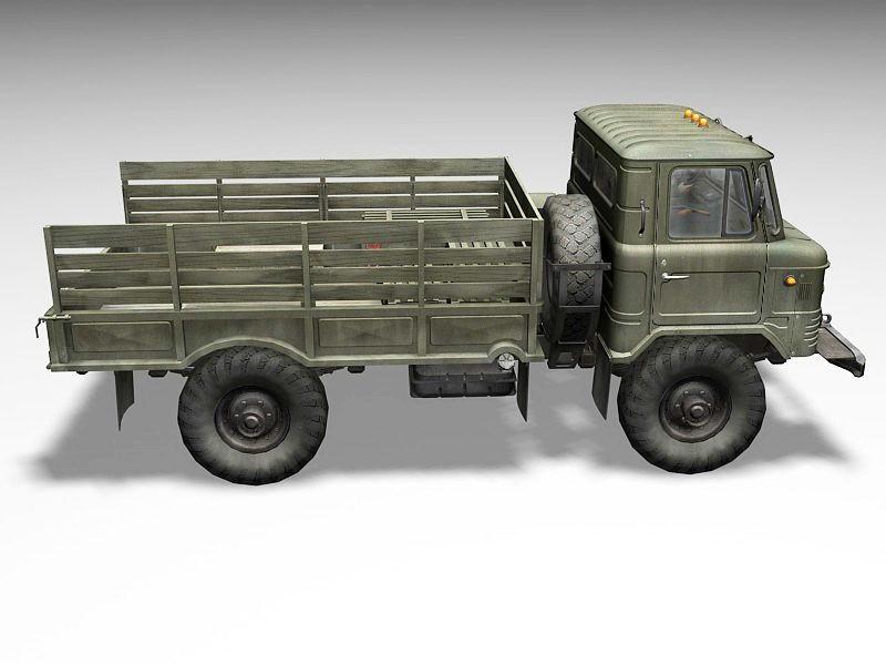 GAZ-66 Soviet Army Truck 3d rendering
