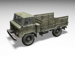 GAZ-66 Soviet Army Truck 3d preview