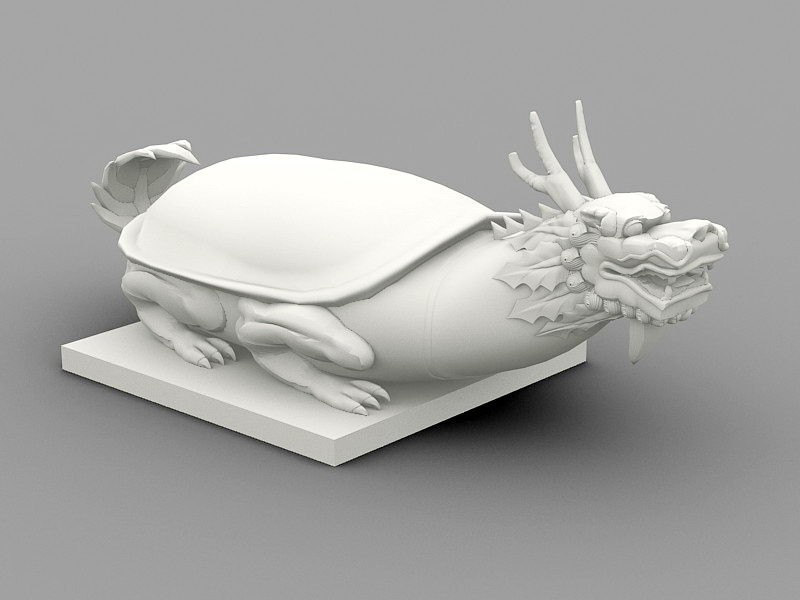 Black Tortoise Chinese Legendary Creature 3d rendering