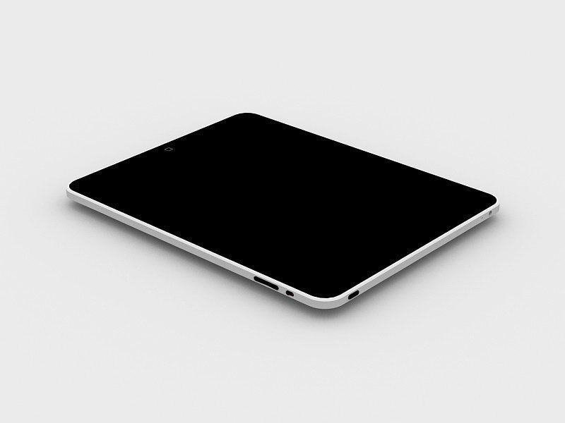 Apple iPad Tablet 3d rendering