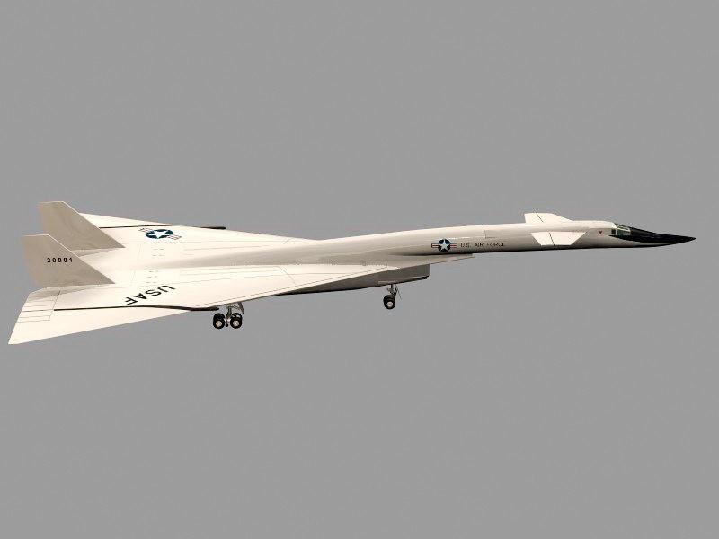XB-70 Valkyrie Strategic Bomber 3d rendering