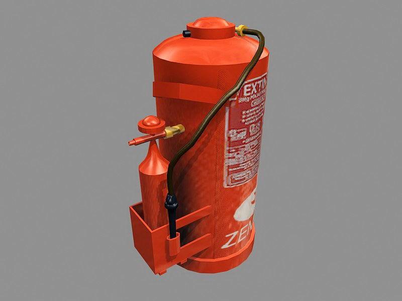 Extintor De Incendio 3d rendering