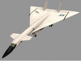 XB70 Valkyrie Strategic Bomber 3D Model