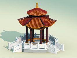 Oriental Garden Gazebo 3d preview