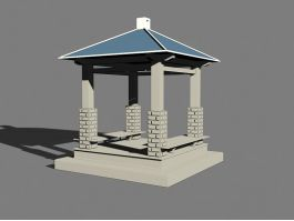 Square Gazebo 3d preview