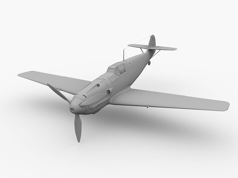 Bf 109G Fighter 3d rendering