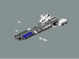 Sci-Fi Space Carrier 3d model preview
