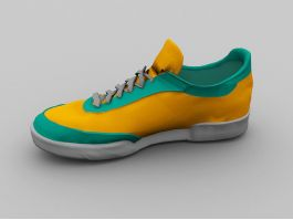 Green and Yellow Running Shoes 3d preview