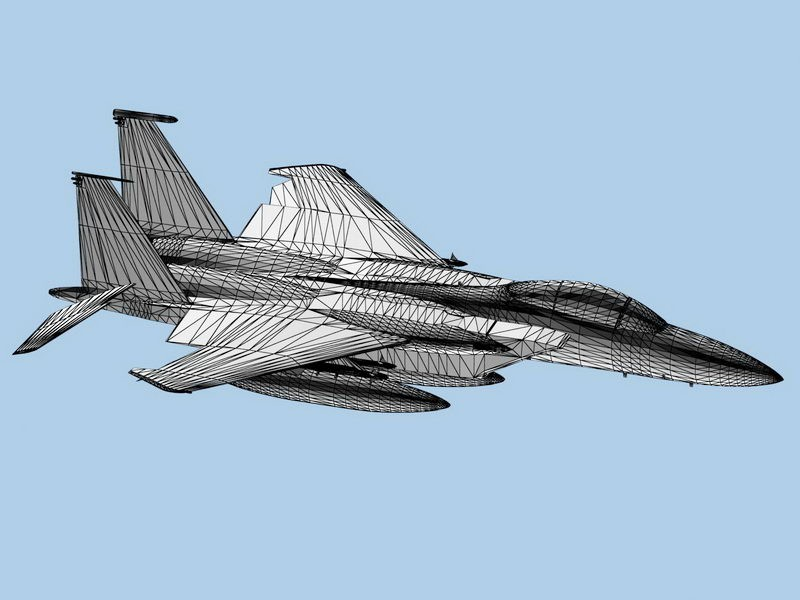 USAF F-15C Fighter Aircraft 3d rendering