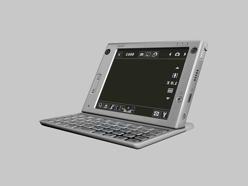 Dopod U1000 Windows Mobile 3d rendering