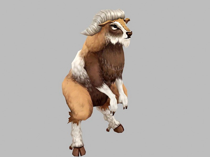 Goat Monster 3d rendering