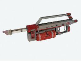 Flamethrower Gun 3d model preview