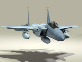 USAF F-15C Fighter Aircraft 3d preview