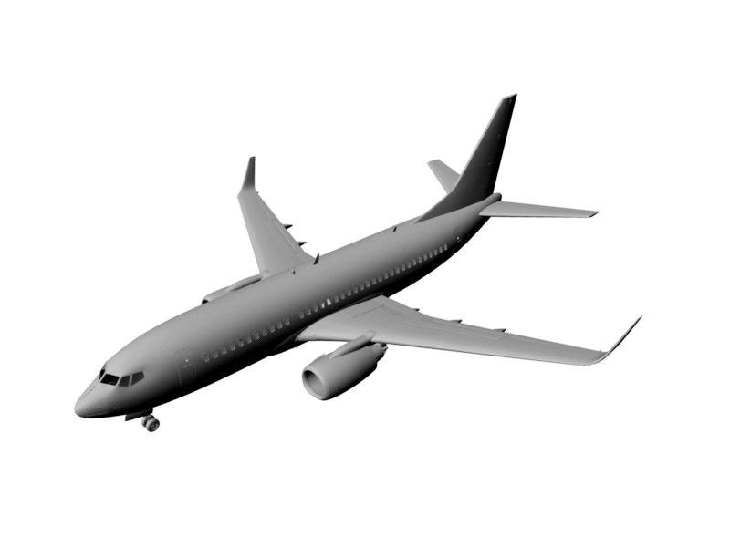 Commercial Airliner 3d rendering