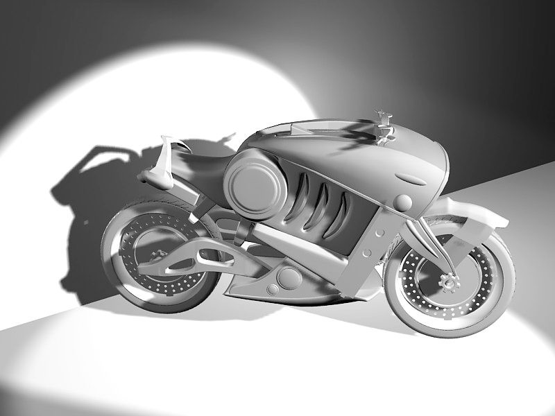 Cool Futuristic Motorcycle 3d rendering