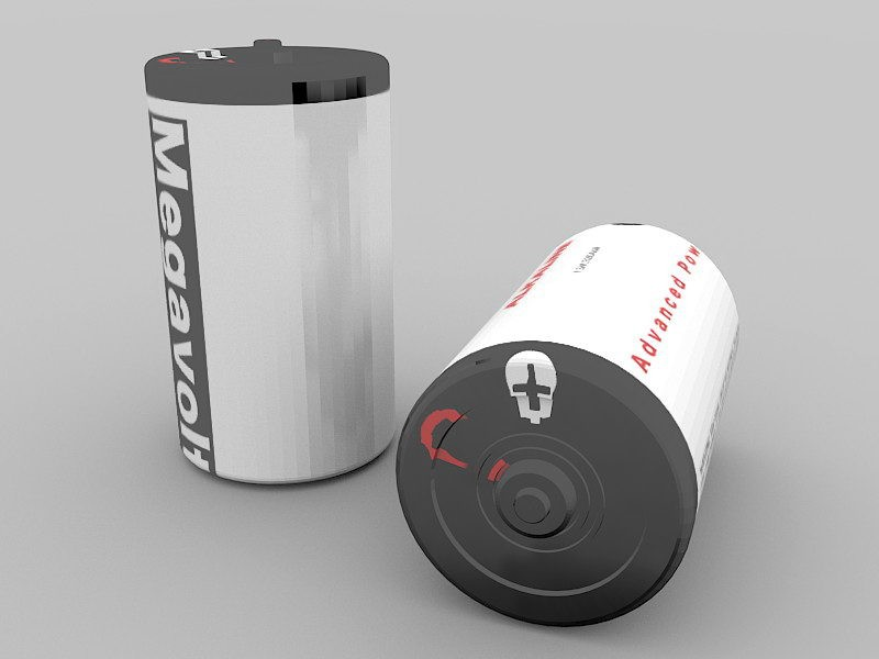 Electric battery 3d rendering