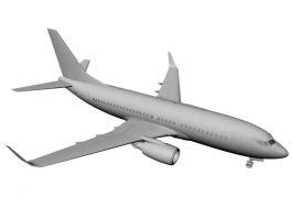 Commercial Airliner 3D Model