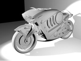Cool Futuristic Motorcycle 3d preview