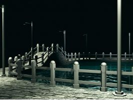The Small Bridge And Flowing Water 3d preview