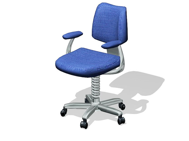 Blue Office Swivel Chair 3d rendering