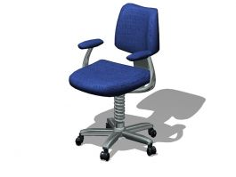 Blue Office Swivel Chair 3d preview