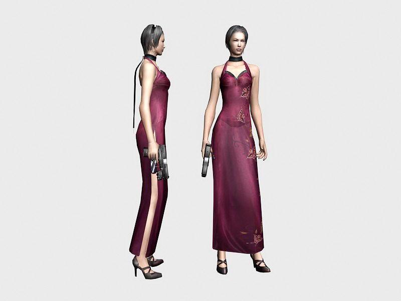 Resident Evil Ada Wong 3d rendering