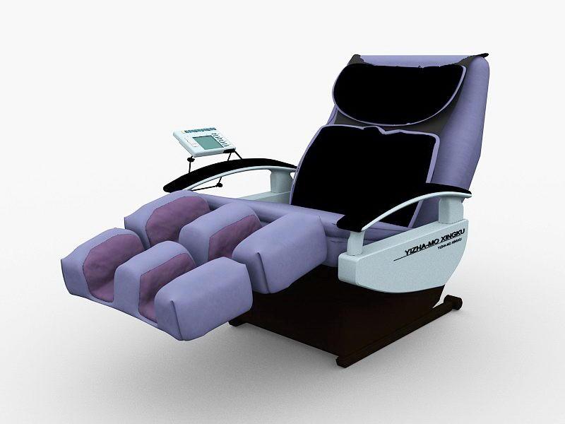 Robotic Massage Chair 3d rendering