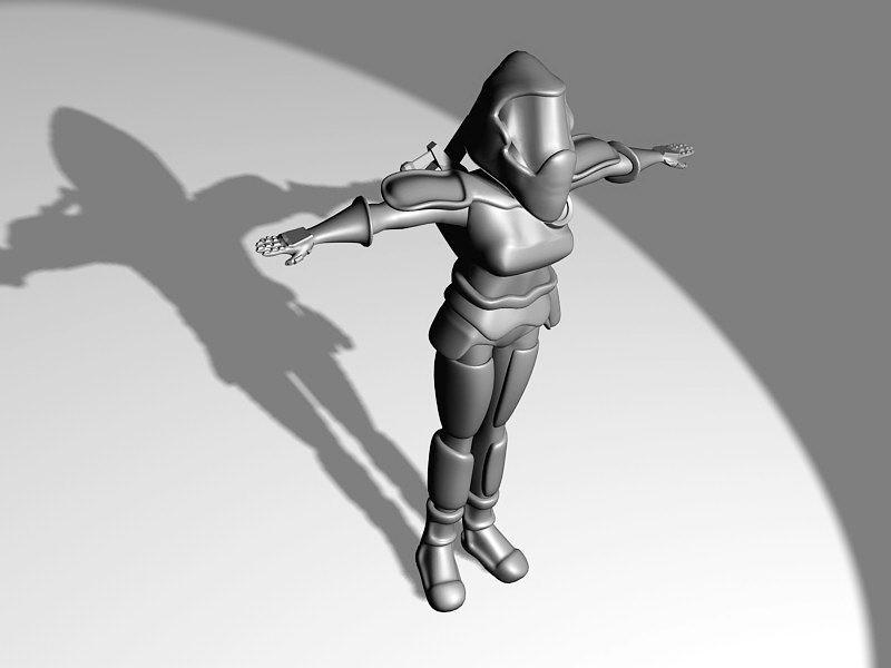 Female Sci-Fi Marine Armor 3d rendering