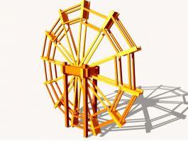 Water Wheel 3d model preview
