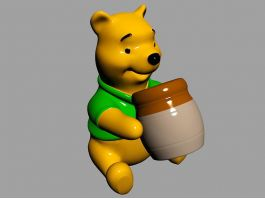 Winnie the Pooh Statue 3d preview
