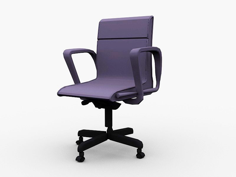 Purple Desk Chair 3d rendering