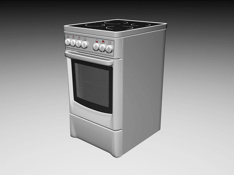 Cooking Gas Stove 3d rendering